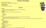 Do Plants Need Sunlight?