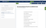 Accommodation key for modified tests