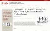 Lesson Plan: The Children's Crusade & the Role of Youth in the African American Freedom Struggle
