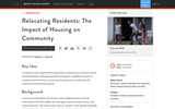 Relocating Residents: The Impact of Housing on Community