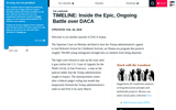 Timeline: Inside the Epic, Ongoing Battle over DACA
