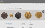 Chronological List of Rulers of the Roman Empire
