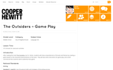 The Outsiders' Game Play