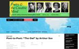 "Poet-to-Poet: ""The Owl"" by Arthur Sze"