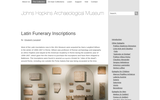 Latin Funerary Inscriptions from John Hopkins Archaeological Museum