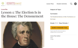 Lesson 1: The Election Is in the House: The Denouement