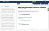 Adobe Digital Design 4.00 Vocabulary Crossword