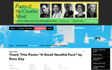"""Teach This Poem: """"A Small Needful Fact"""" by Ross Gay"""