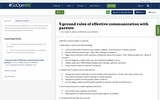 5 ground rules of effective communication with parents