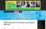 """Teach This Poem: """"Ars Poetica"""" by Archibald MacLeish"""