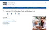 Finding and Evaluating Online Resources