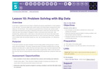 CS Discoveries 2019-2020: Data and Society Lesson 5.1: Problem Solving with Big Data