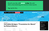 "Incredible Bridges: ""Translation for Mama"" by Richard Blanco"