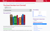 The Great Number Hunt (Sorted) (Ages 8-10)