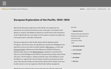 European Exploration of the Pacific, 1600-1800