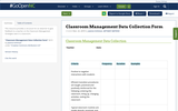 Classroom Management Data Collection Form
