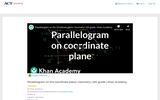 Parallelogram on the Coordinate Plane
