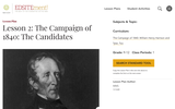 Lesson 2: The Campaign of 1840: The Candidates