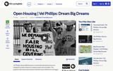 Open Housing | Vel Phillips: Dream Big Dreams