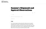 8.EE Sammy's Chipmunk and Squirrel Observations