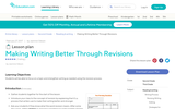 Lesson Plan: Making Writing Better Through Revisions
