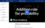 Addition Rule for Probability