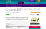 Aaron and Anya's Quilt Challenge: Problem Solving and Interpreting Remainders
