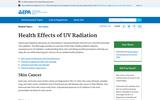 Health Effects of UV radiation