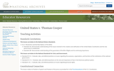 United States v. Thomas Cooper - Teaching Activities