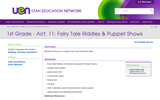 1st Grade - Act. 11: Fairy Tale Riddles & Puppet Shows