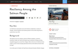 Resiliency Among the Salmon People