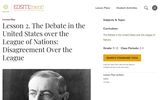 Lesson 2. The Debate in the United States over the League of Nations: Disagreement Over the League