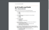 Learning About Credit Reports-6-8 Credit and Debt Pre-Assessment