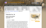 Federalist No. 36 Publius (Alexander Hamilton)