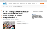 A Time for Sight: The Debate over Color Blindness and Race-Consciousness in School Integration Policy