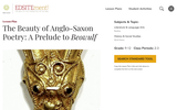 The Beauty of Anglo-Saxon Poetry: A Prelude to Beowulf
