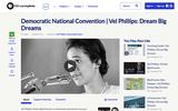 Democratic National Convention | Vel Phillips: Dream Big Dreams