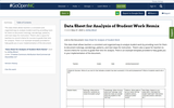 Data Sheet for Analysis of Student Work Remix