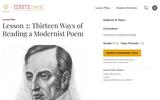 Lesson 2: Thirteen Ways of Reading a Modernist Poem