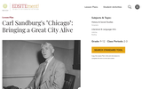 "Carl Sandburg's ""Chicago"": Bringing a Great City Alive"
