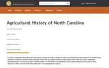 Agricultural History of North Carolina