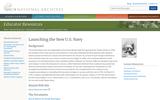 Launching the New U.S. Navy - Teaching Activities