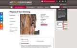 Physics of Rock Climbing