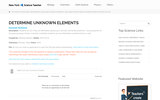 Determine Unknown Elements Worksheet