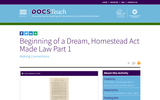 Beginning of a Dream, Homestead Act Made Law Part 1