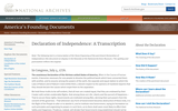 Declaration of Independence: A Transcription