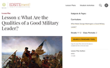 Lesson 1: What Are the Qualities of a Good Military Leader?