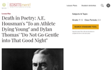"Death in Poetry: A.E. Houseman's ""To an Athlete Dying Young"" and Dylan Thomas' ""Do Not Go Gentle into that Good Night"""