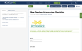 New Teacher Orientation Checklist