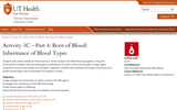 Activity 3C - Part 4: Born of Blood: Inheritance of Blood Types